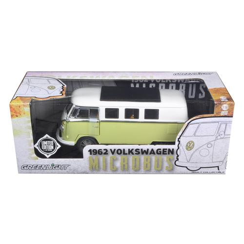 1962 Volkswagen Microbus Olive Green Limited to 300pc 1/18 Diecast Model Car by Greenlight