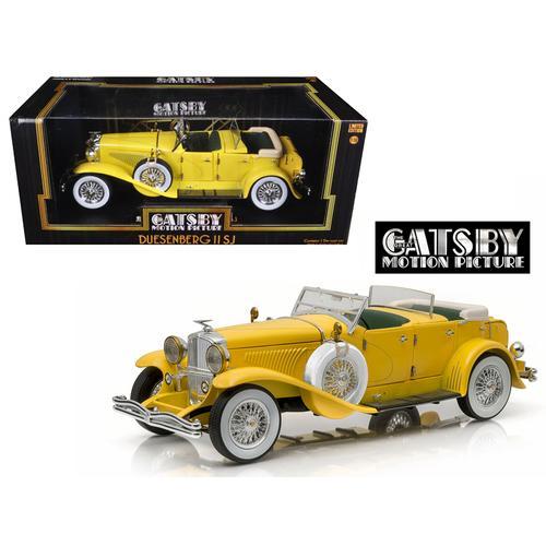 "1934 Duesenberg II SJ Yellow ""The Great Gatsby"" (2013) Movie 1/18 Diecast Model Car by Greenlight"