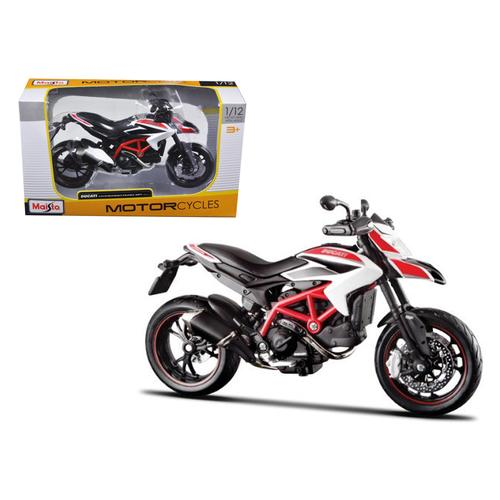 2013 Ducati Hypermotard SP White Motorcycle Model 1/12 by Maisto