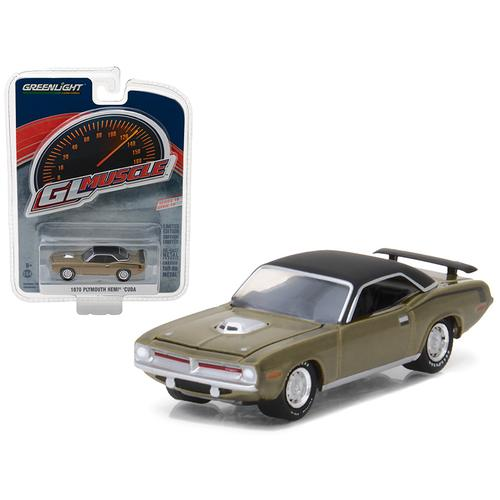 1970 Plymouth HEMI Cuda Citron Gold Greenlight Muscle Series 19 1/64 Diecast Model Car by Greenlight