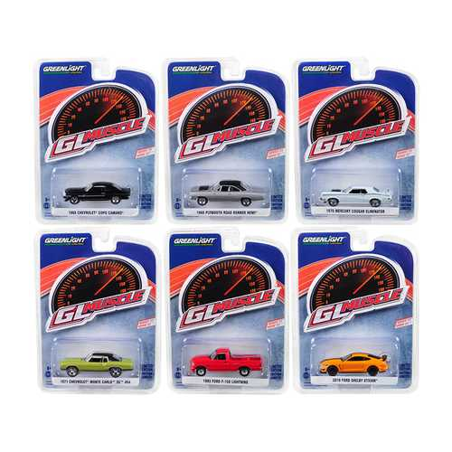 Greenlight Muscle Series 22, Set of 6 Cars 1/64 Diecast Model Cars by Greenlight