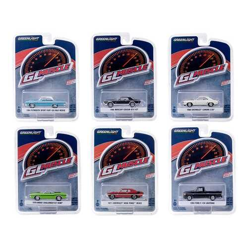 """""""Greenlight Muscle"""" Set of 6 Cars Series 23 1/64 Diecast Model Cars by Greenlight"""