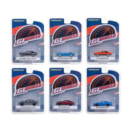 """""""Greenlight Muscle"""" Set of 6 Cars Series 24 1/64 Diecast Model Cars by Greenlight"""