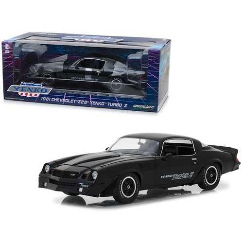 1981 Chevrolet Z28 Yenko Turbo Z Black 1/18 Diecast Model Car by Greenlight