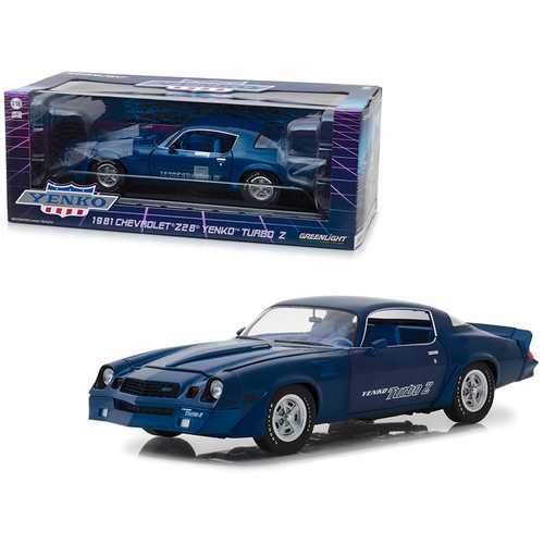 1981 Chevrolet Z28 Yenko Turbo Z Blue 1/18 Diecast Model Car by Greenlight