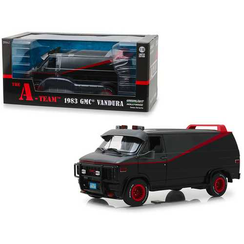 "1983 GMC Vandura Black ""The A-Team"" (1983-1987) TV Series 1/18 Diecast Model Car by Greenlight"