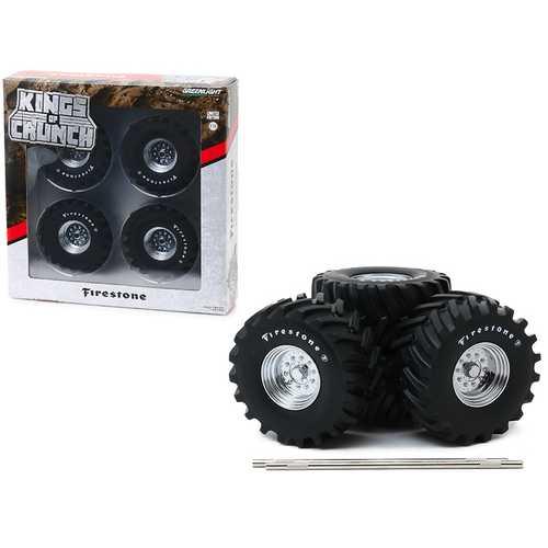 "48-Inch Monster Truck ""Firestone"" Wheels & Tires 6 piece Set ""Kings of Crunch"" 1/18 by Greenlight"