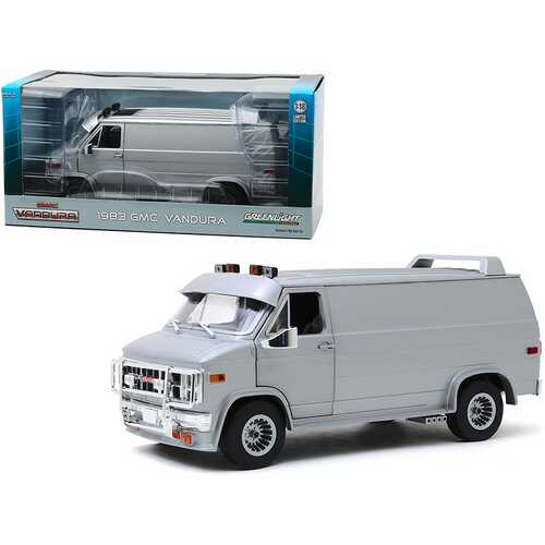 1983 GMC Vandura Van Custom Silver Metallic 1/18 Diecast Model Car by Greenlight