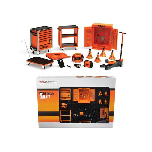 Beta Garage Mechanic Accessory 13 pieces Tool Kit Set for 1/18 Scale Models by True Scale Miniatures