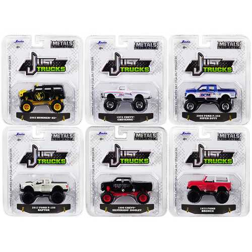 """Just Trucks"" Set of 6 Trucks Series 22 1/64 Diecast Model Cars by Jada"