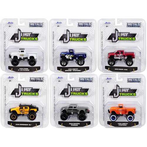 """""""Just Trucks"""" Set of 6 Trucks Series 23 1/64 Diecast Model Cars by Jada"""