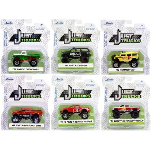"""""""Just Trucks"""" Set of 6 Trucks Series 25 1/64 Diecast Model Cars by Jada"""