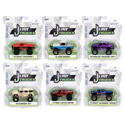 """""""Just Trucks"""" Set of 6 Trucks Series 29 1/64 Diecast Model Cars by Jada"""