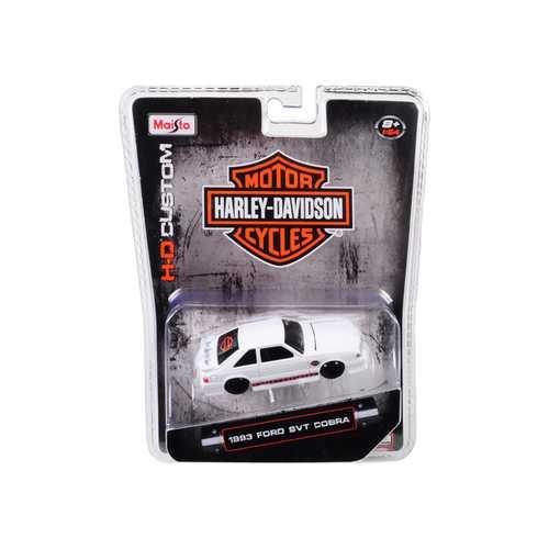 "1993 Ford SVT Cobra White ""Harley Davidson"" 1/64 Diecast Model Car by Maisto"