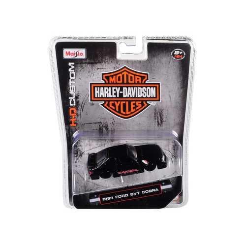 "1993 Ford SVT Cobra Black ""Harley Davidson"" 1/64 Diecast Model Car by Maisto"