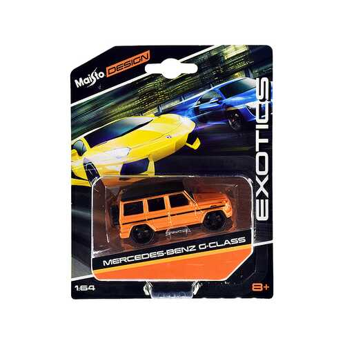 "Mercedes Benz G-Class Orange Metallic with Black Top ""Exotics"" Series 1/64 Diecast Model Car by Maisto"