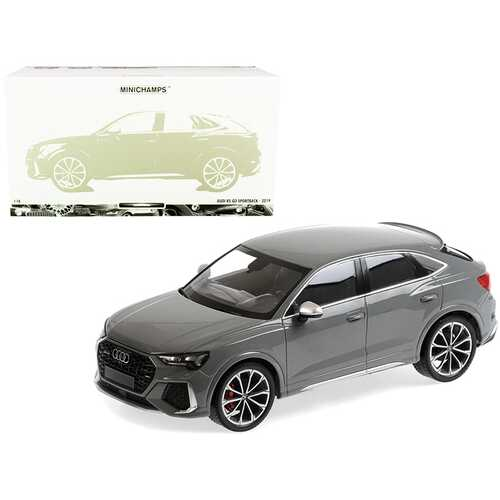 2019 Audi RS Q3 Sportback Gray Limited Edition to 240 pieces Worldwide 1/18 Diecast Model Car by Minichamps
