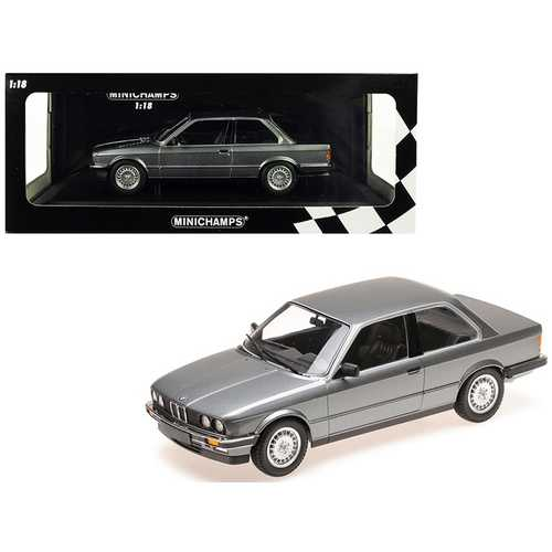 1982 BMW 323i Metallic Gray Limited Edition to 400 pieces Worldwide 1/18 Diecast Model Car by Minichamps