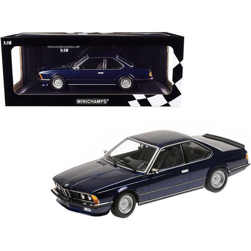 1982 BMW 635 CSi Dark Blue Metallic Limited Edition to 504 pieces Worldwide 1/18 Diecast Model Car by Minichamps