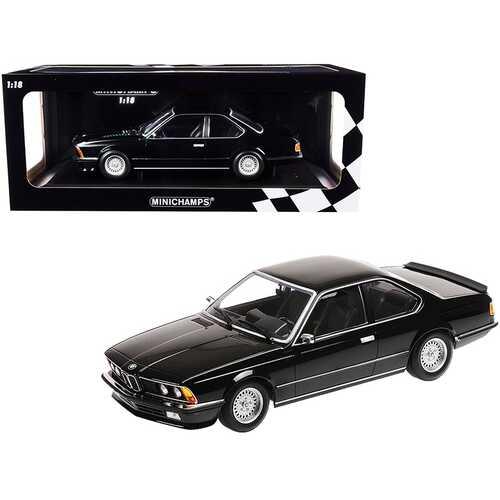 1982 BMW 635 CSi Black Metallic Limited Edition to 504 pieces Worldwide 1/18 Diecast Model Car by Minichamps