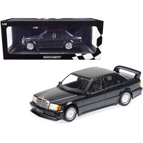 1989 Mercedes Benz 190E 2.5-16 EVO 1 Blue-Black Metallic Limited Edition to 1002 pieces Worldwide 1/18 Diecast Model Car by Minichamps