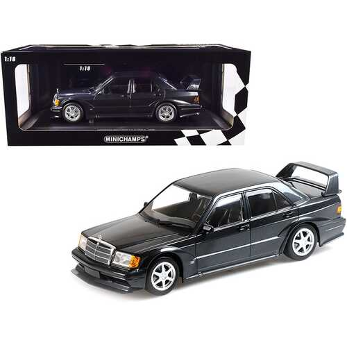 1990 Mercedes Benz 190E 2.5-16 EVO 2 Blue-Black Metallic Limited Edition to 1002 pieces Worldwide 1/18 Diecast Model Car by Minichamps
