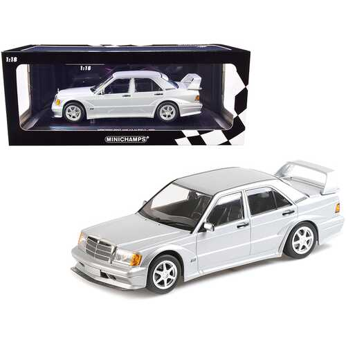 1990 Mercedes Benz 190E 2.5-16 EVO 2 Silver Metallic Limited Edition to 804 pieces Worldwide 1/18 Diecast Model Car by Minichamps