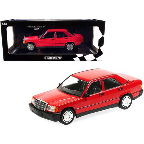 1982 Mercedes Benz 190E (W201) Red Limited Edition to 702 pieces Worldwide 1/18 Diecast Model Car by Minichamps