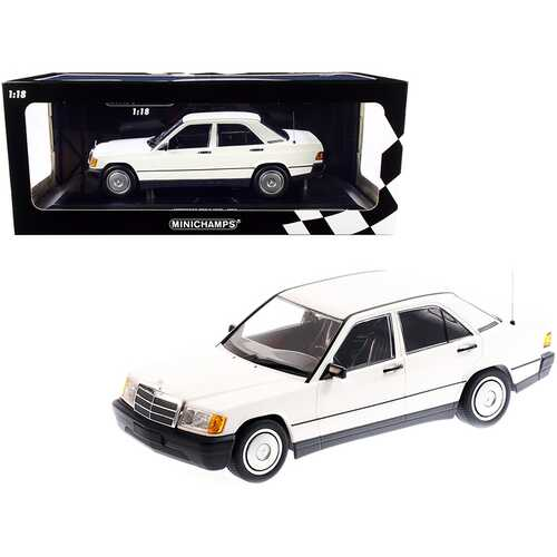 1982 Mercedes Benz 190E (W201) White Limited Edition to 702 pieces Worldwide 1/18 Diecast Model Car by Minichamps