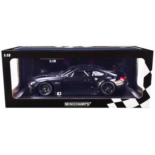 2016 BMW M6 GT3 Plain Body Version Matt Black 1/18 Diecast Model Car by Minichamps
