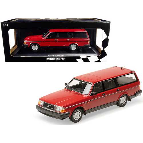 1986 Volvo 240 GL Break Red Limited Edition to 600 pieces Worldwide 1/18 Diecast Model Car by Minichamps