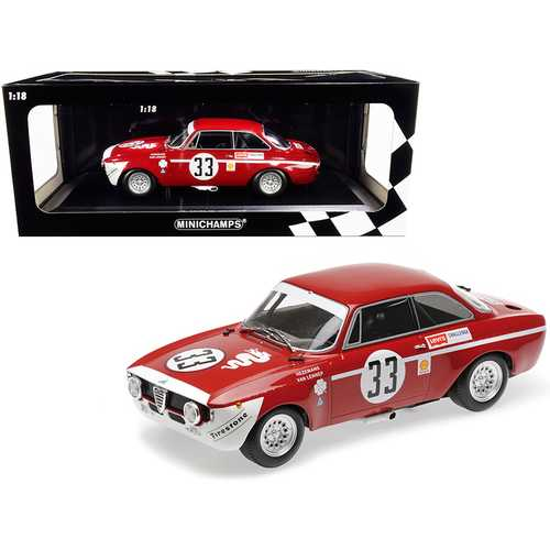 Alfa Romeo GTA 1300 Junior #33 Hezemanns / Van Lennep Winners Division 1 4H Jarama (1972) Limited Edition to 300 pieces Worldwide 1/18 Diecast Model Car by Minichamps