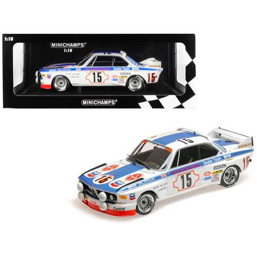 "BMW 3.0 CSL #15 Harald Menzel / Alain Peltier ""BMW Alpina"" 24 Hours SPA 1973 (Malcolm Gartian Racing) Limited Edition to 336 pieces Worldwide 1/18 Diecast Model Car by Minichamps"