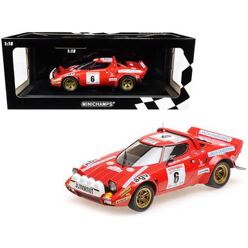 Lancia Stratos #6 Bernard Darniche - Alain Mahe Winners Tour de Corse (1975) Limited Edition to 402 pieces Worldwide 1/18 Diecast Model Car by Minichamps