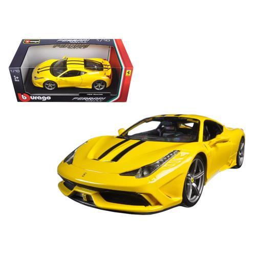 Ferrari 458 Speciale Yellow 1/18 Diecast Model Car by Bburago