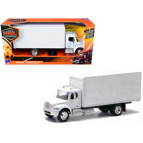 Freightliner Utility M2 Box Truck Van White 1/43 Diecast Model by New Ray
