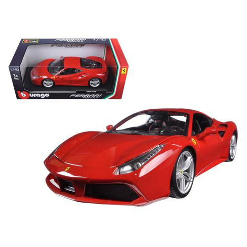 Ferrari 488 GTB Red 1/18 Diecast Model Car by Bburago