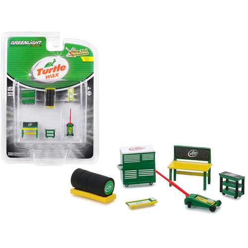 """""""Turtle Wax"""" 6 piece Shop Tools Set """"Shop Tool Accessories"""" Series 1 1/64 by Greenlight"""