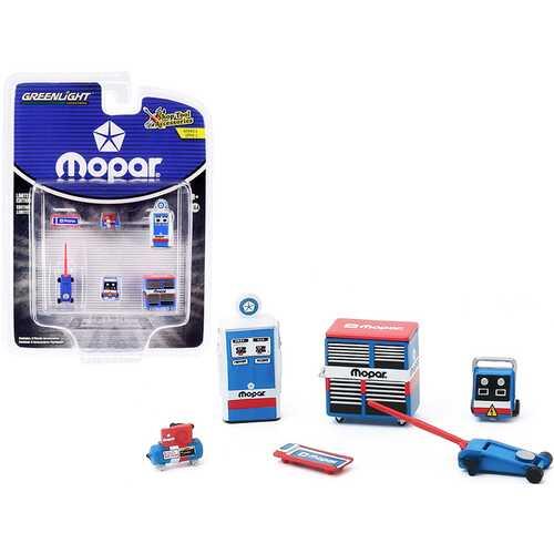 """MOPAR Parts & Service"" 6 piece Shop Tools Set ""Shop Tool Accessories"" Series 2 1/64 by Greenlight"