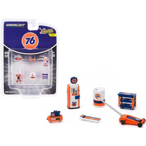 """""""Union 76"""" 6 piece Shop Tools Set """"Shop Tool Accessories"""" Series 2 1/64 by Greenlight"""
