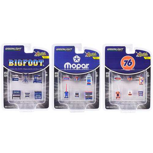 """""""Shop Tool Accessories"""" Set of 3 Multipacks Series 2 1/64 by Greenlight"""