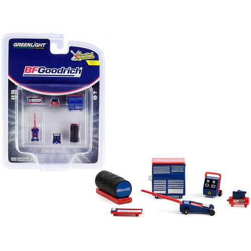 """BFGoodrich Tires"" 6 piece Shop Tools Set ""Shop Tool Accessories"" Series 4 1/64 Models by Greenlight"