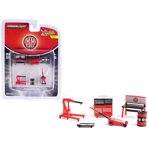 """""""Marvel Mystery Oil"""" 6 piece Shop Tools Set """"Shop Tool Accessories"""" Series 4 1/64 Models by Greenlight"""