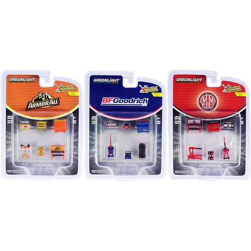 """""""Shop Tool Accessories""""  Set of 3 Multipacks Series 4 1/64 Models by Greenlight"""