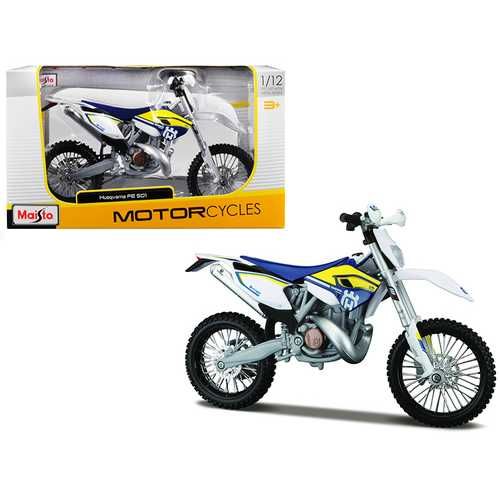 Husqvarna FE 501 White/ Blue/ Yellow 1/12 Diecast Motorcycle Model by Maisto