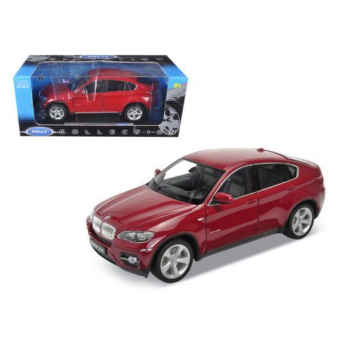 2011 2012 BMW X6 Red 1/18 Diecast Car Model by Welly