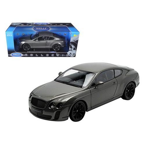 Bentley Continental Supersports Coupe Grey 1/18 Diecast Model Car by Welly