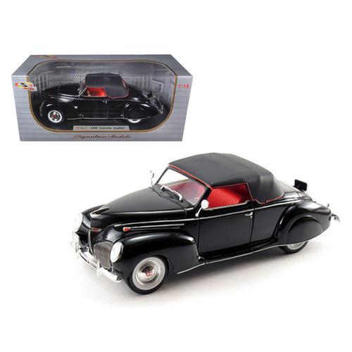1939 Lincoln Zephyr Black 1/18 Diecast Model Car by Signature Models