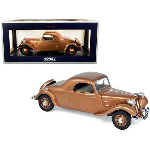 1939 Citroen Traction Avant 11B Coupe Brown Metallic 1/18 Diecast Model Car by Norev