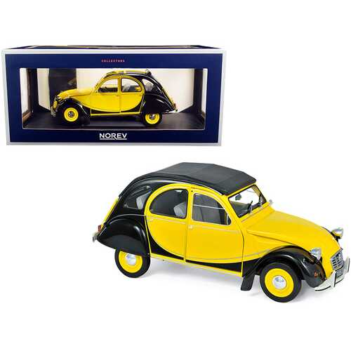 1982 Citroen 2CV Charleston Helios Yellow and Black 1/18 Diecast Model Car by Norev